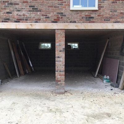 Pair of Up and Over Timber Kingsbury Garage Doors, Wigan