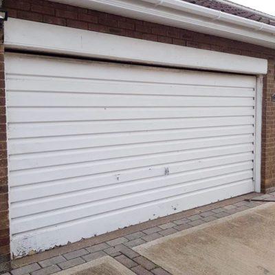 Insulated Roller Garage Door in Anthracite Grey, Grimsby