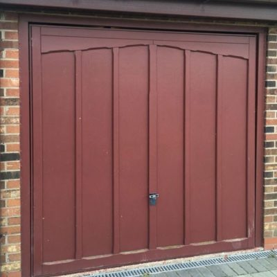 L-Rib Insulated Sectional Garage Door in Black, Grimsby