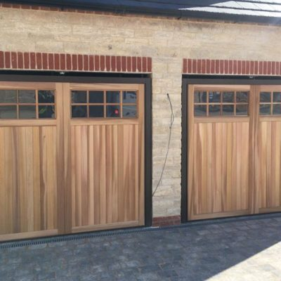 Up and Over Timber Garage Doors for New Build, Lincoln