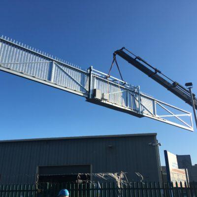 17.7m Cantilever Sliding Commercial Gate, Hull