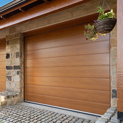 Insulated Ribbed Sectional Garage Doors