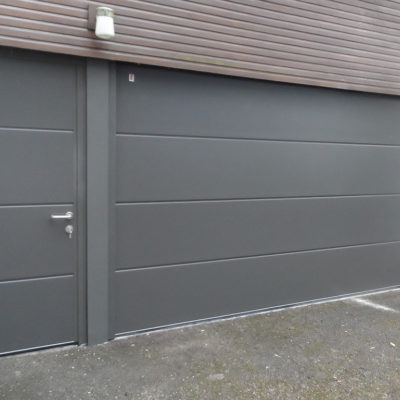 Anthracite Grey Insulated Sectional Garage Door, Hull