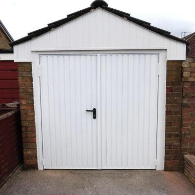 White Side Hinged Garage Door, Hull