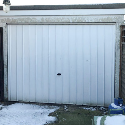 Steel Up & Over Garage Door in Carlton Design, Warrington
