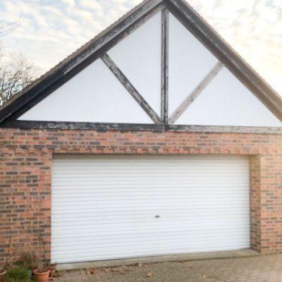 White Georgian Sectional Garage Door, Wigan