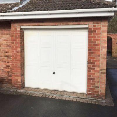 White Insulated Roller Garage Door, Warrington