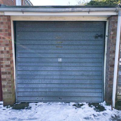 White Steel Up & Over Garage Door, Bury