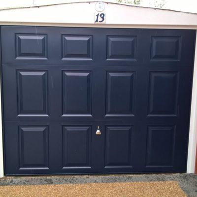 Garador Beaumont up and over garage door in Steel Blue