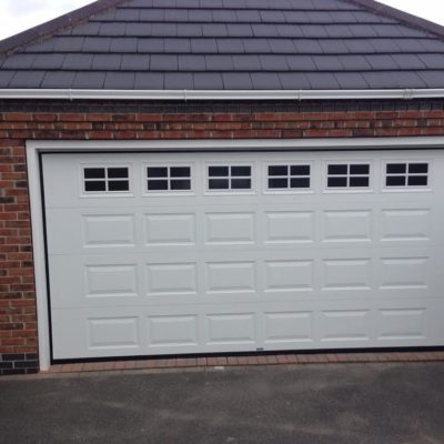 Georgian Sectional Garage Door With Cross Mullion Windows, York