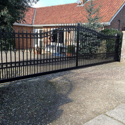 Metal Entrance Gate in Black