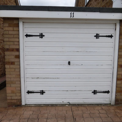 White Georgian Sectional Garage Door, Hull