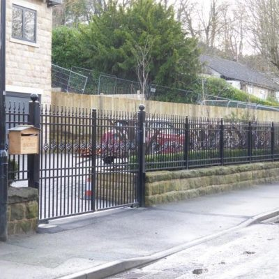 Steel Gate with Matching Railings