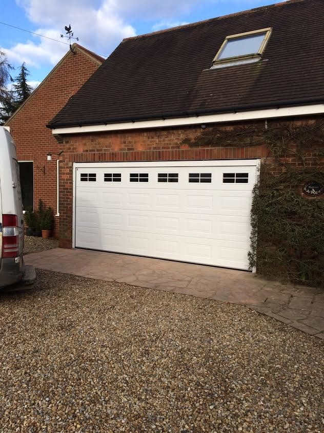 Georgian Insulated Sectional Garage Door With Cross Windows