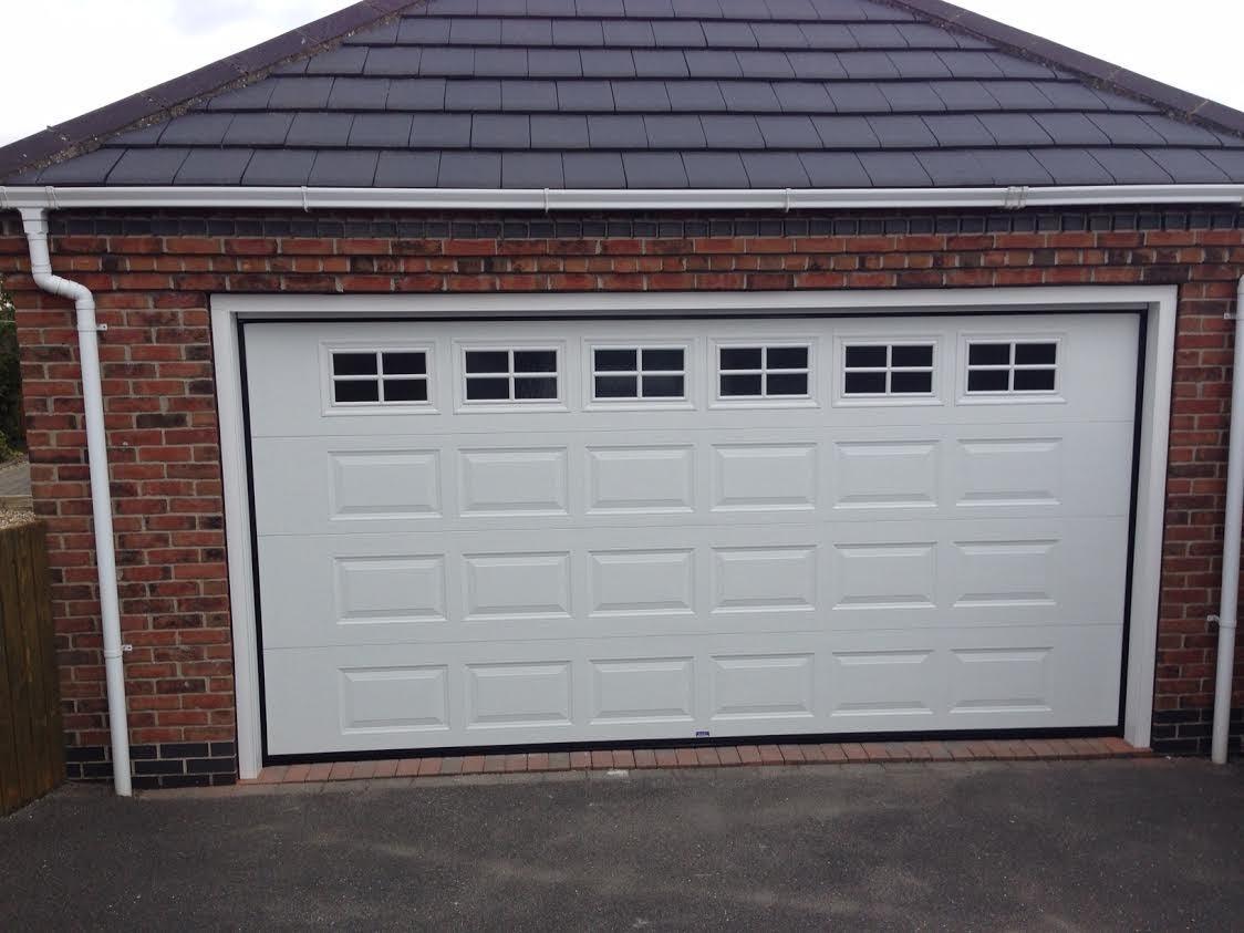 Georgian Sectional Garage Door With Cross Mullion Windows