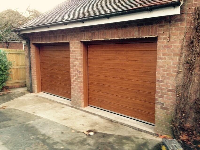 Golden Oak Carteck Insulated Sectional Garage Doors
